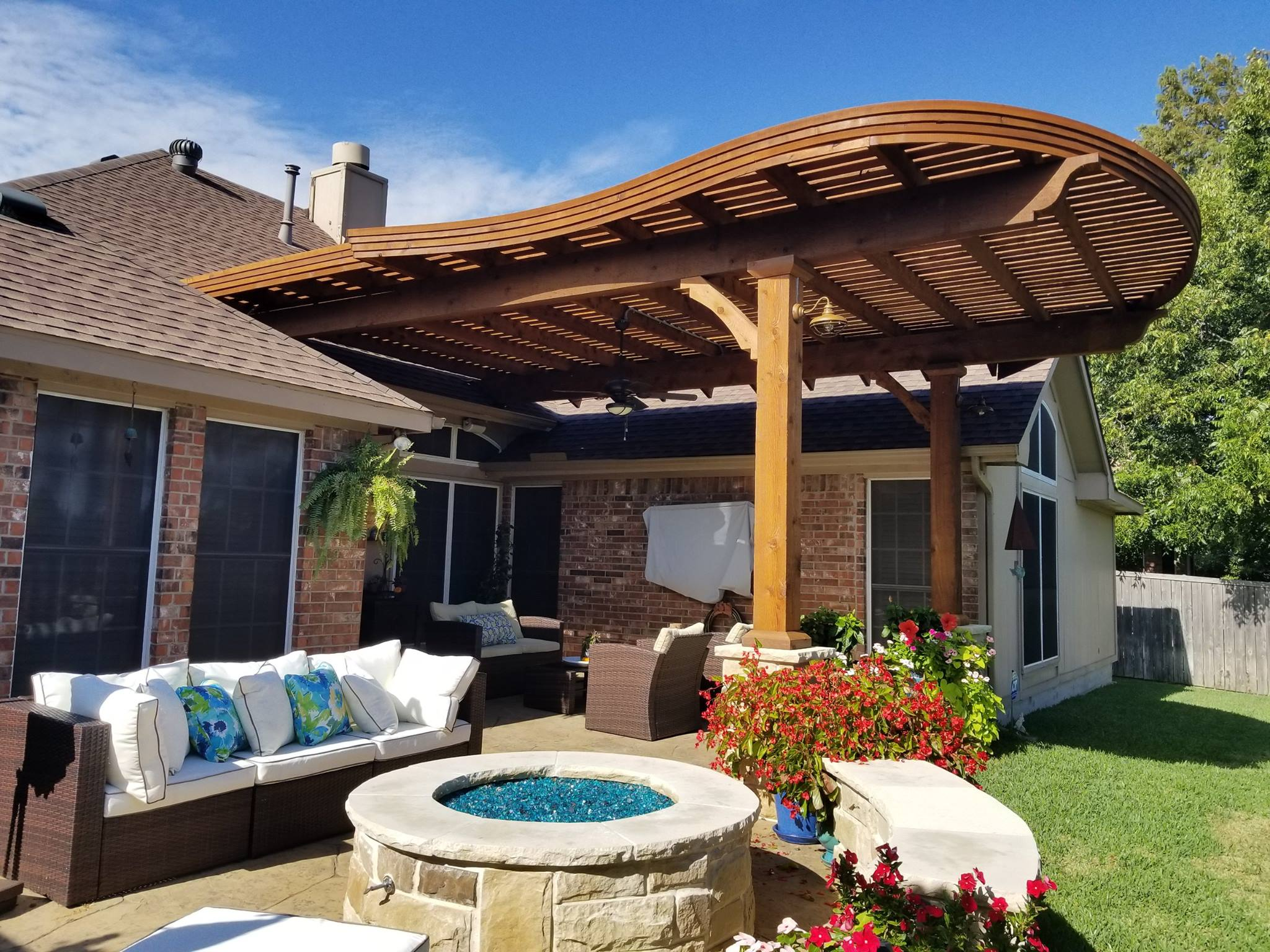 Forney, Texas Patio Covers, Arbors & Outdoor Kitchens ... on Backyard Patio Cover  id=43838