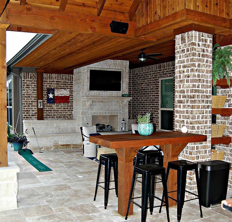 Consider a Custom Outdoor Fireplace!