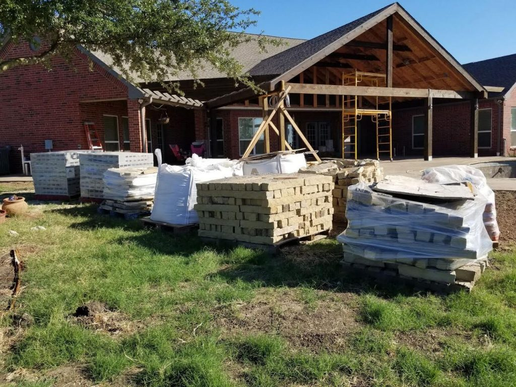 Patio Building in Rockwall, TX