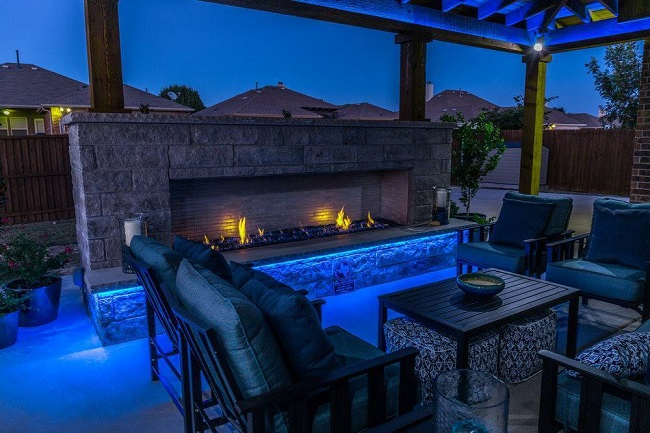 Include a Gorgeous, Outdoor Fireplace on Your Patio